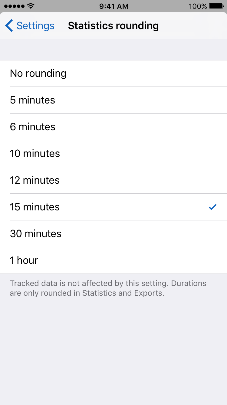 Timelines Statistics rounding settings