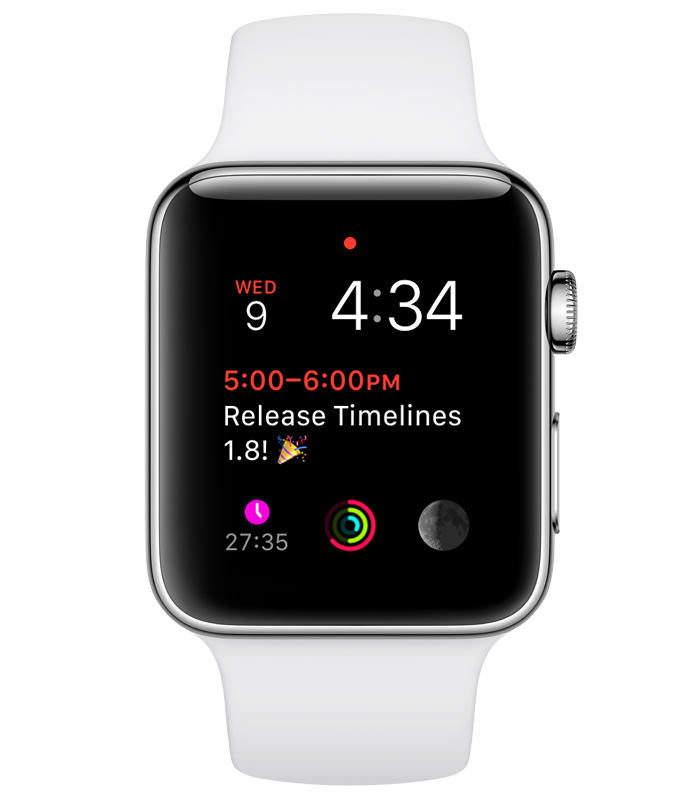 Timelines Watch app colored complication Modular